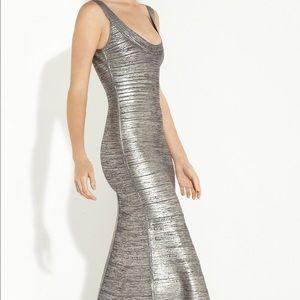 Herve Leger Dresses & Skirts - Authentic Ellen Woodgrain Foil-Print Gown (Size S)