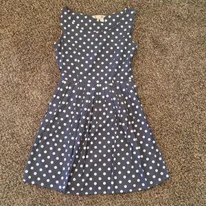 Dresses & Skirts - Yumi Chambray Polka Dot Dress