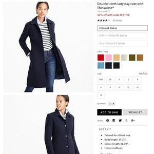 Classic J Crew wool day coat