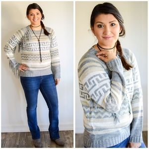 Blu Pepper Sweaters - 🎉Sweater sale!🎉🌵Tribal fringe boho sweater🌵