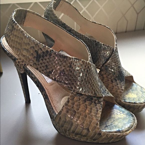 Diane Von Furstenberg Woman Sequined Leather Slippers Silver Size 8 Diane Von F Free Shipping Pay With Paypal HPShwpy