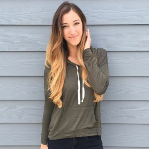 | new | olive green hoodie