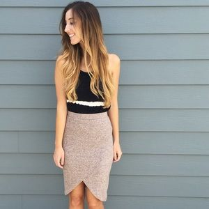 | new | blush wrap skirt