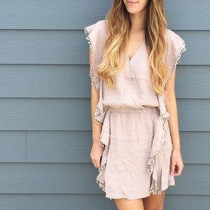 Dresses & Skirts - | new | tan surplice dress