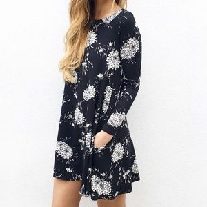 | new | long sleeve floral dress
