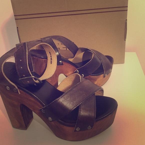 8ae9a2544f67 Bed Stu Shoes - Bed Stu Madeline Teak Rustic Platform Sandal
