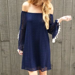 | new | navy boho dress