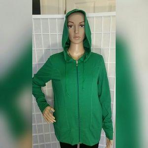 Danskin Now Jackets & Blazers - Green hooded jacket large 12/14