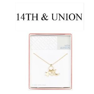 14th & Union Jewelry - 14th & Union – Star & Moon Charm Pendant Necklace