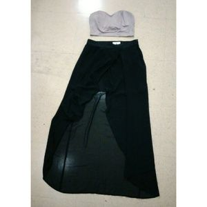 Dresses & Skirts - Long Black Skirt and Top Outfit