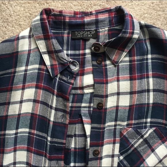 Topshop Tops - TopShop Plaid Button Down