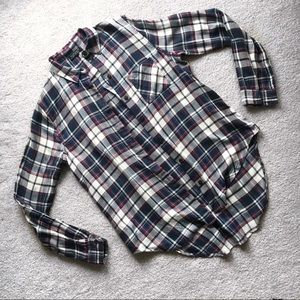 TopShop Plaid Button Down