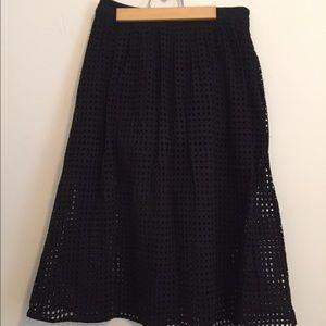 MNG by Mango Cutwork Midi Skirt
