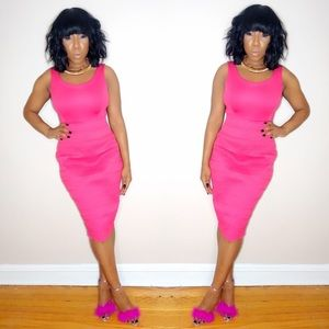 New York & Company Dresses - New York & Company Hot Pink Dress