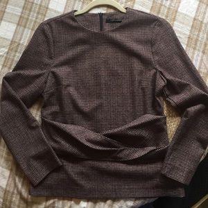 Zara Long Sleeve Top Blouse