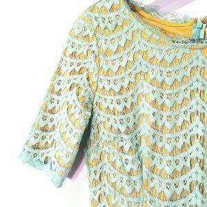 Dresses & Skirts - Chic Brunch Dress Mint and Mustard