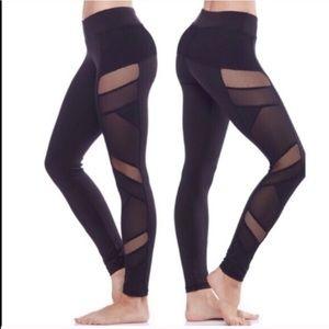 Pants - Black yoga mesh leggings super cheap!