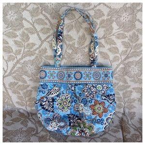 Vera Bradley Retired Bali Blue Bag Tote