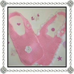 Purple Box Boutique Other - Crochet baby bibs (NWOT)