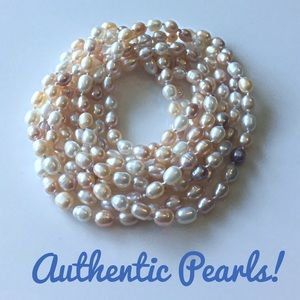 Jewelry - Pastel Freshwater Cultured Pearl Long Necklace