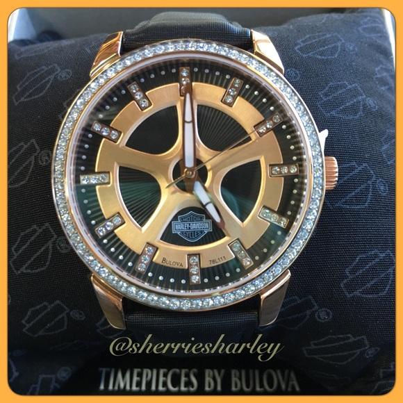 ⌚️Rose Gold Ladies Harley-Davidson® Bulova® Watch 2981052dfb8