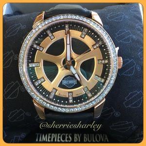 Harley-Davidson Accessories - ⌚️Rose Gold Ladies Harley-Davidson® Bulova® Watch
