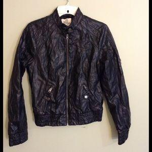 Black Poppy Jackets & Blazers - Pleather jacket