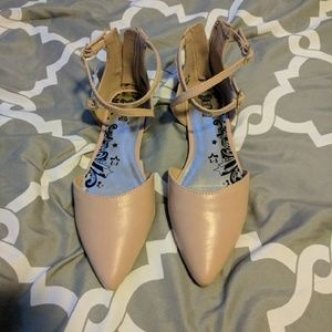 Nude Colored Pointed Flats NWT