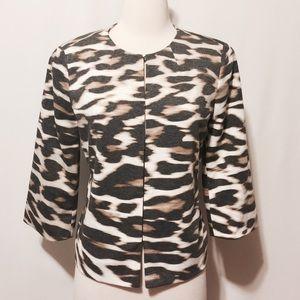 East 5th Jackets & Blazers - NWOT Animal Print Scoop Neck Jacket