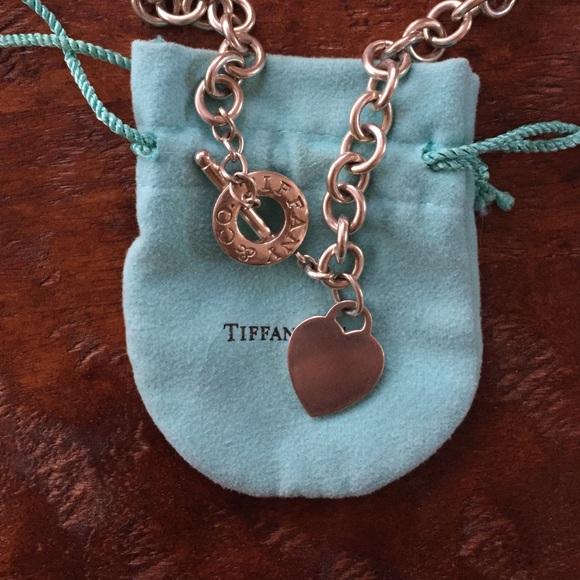 53eb31aa7 Tiffany & Co. Jewelry | Authentic Tiffany Co Heart Tag Toggle ...