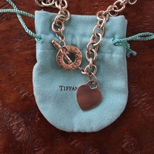 Authentic Tiffany & Co. Heart Tag Toggle Necklace