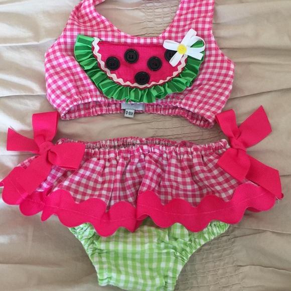 a33067b61b Mud Pie 2 piece Watermelon Swimsuit. M 58335832f092823ff1000b28