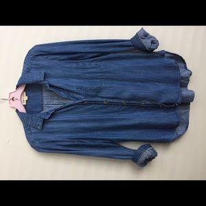 Anthropologie Cloth & Stone Chambray Shirt EUC