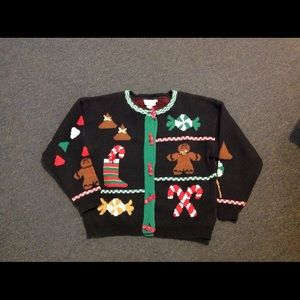 Vtg Ugly Christmas Sweater Gingerbread ManSALE