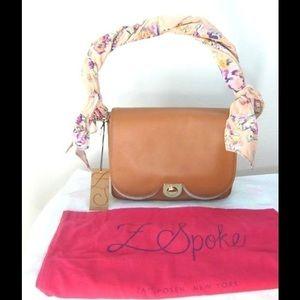 Z Spoke by Zac Posen Handbags - NWT Zac Posen Scalloped Floral-strap Leather Bag