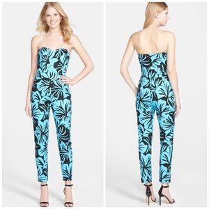MICHAEL Michael Kors Pants - Michael Kors Tropical Floral Strapless Jumpsuit