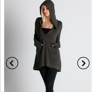 Casual Hoodie In Charcoal