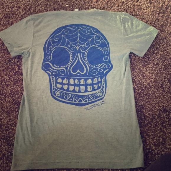 173ce65b1 American Apparel Tops | Rogue Fitness Womens Sugar Skull Tshirt ...