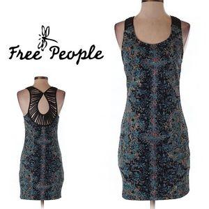 Free People Dresses & Skirts - BOHO Free People Dark Blue Bodycon Dress NWT