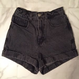 American Apparel Pants - Black American Apparel High Waisted Shorts!