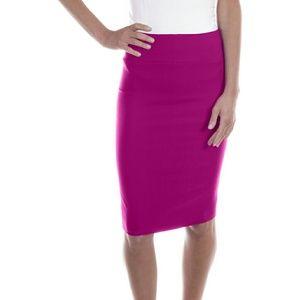 Professional Women Pencil Skirt d1114, Fuchsia
