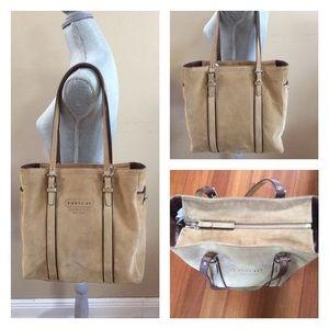 Coach Handbags - ⚡️Coach Hamptons Tan Suede Tote Bag⚡️