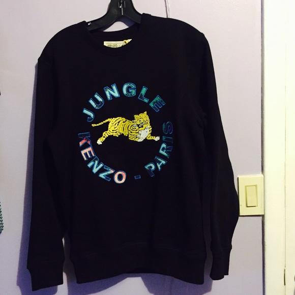 a1426848110 Kenzo Sweaters | Authentic X Hm Black Logo Crewneck | Poshmark