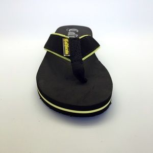 🎉HP🎉black with lime accent suede strap flip flop