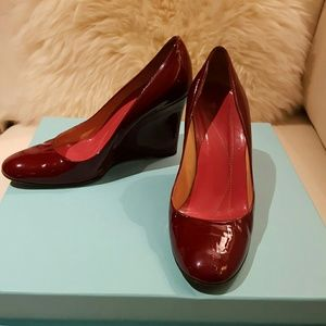 kate spade Shoes - Kate Spade Patent Red Wedge .