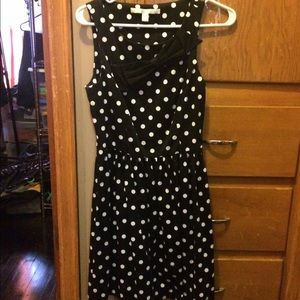 Black and whit polka dot party dress