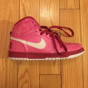 Nike Shoes - Hot pink NIKE dunks..worn twice..size 7