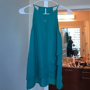 Parker Tops - Theia Teal Party Top