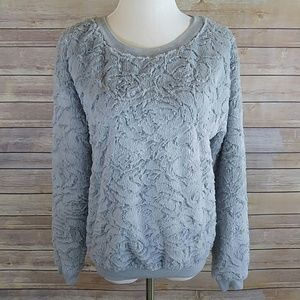 love on a hanger Tops - Fuzzy Gray floral patterned top