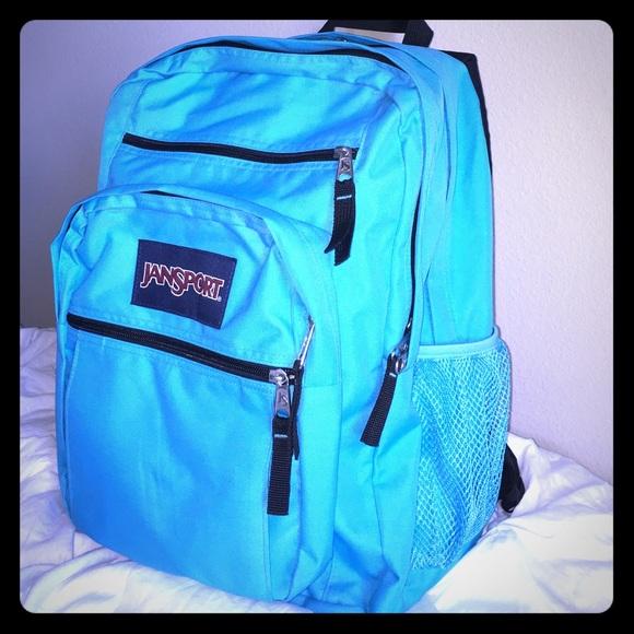 41339affe61 Jansport Handbags - NWOT Blue Crest JanSport Big Student Backpack 🌎